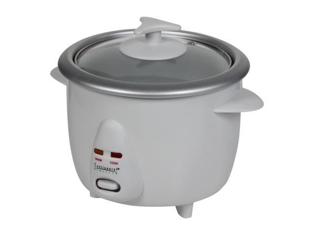 Continental Electric CE23201 White 3-Cup Rice Cooker