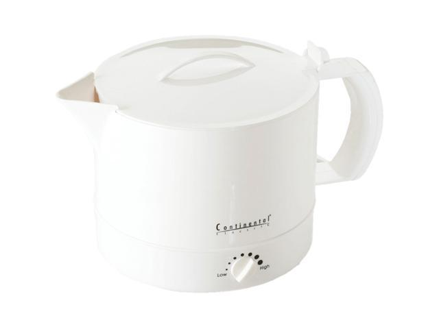Continental Electric CE23361 White 32 Oz. Hot Pot