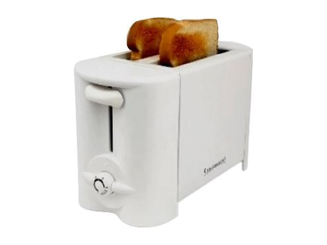 Continental Electric CE23411 White 2-Slice Toaster