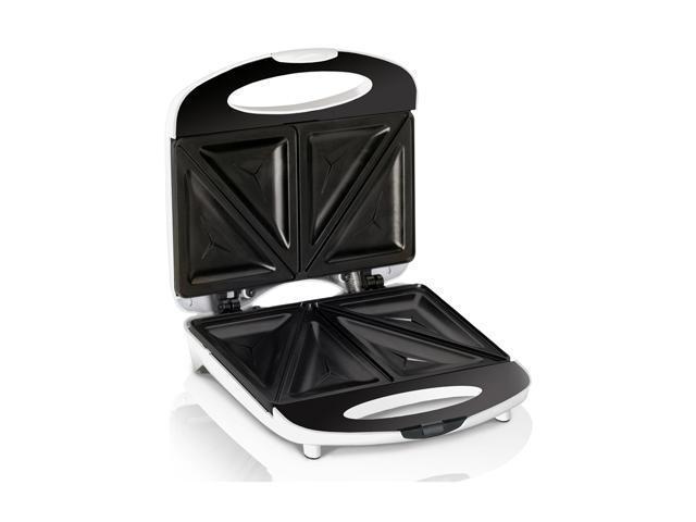 Continental Electric CE23831 Black & White 2-Slice Sandwich Maker