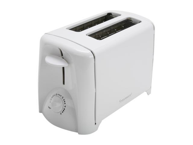Continental Electric CE23401 White 2-Slice Toaster