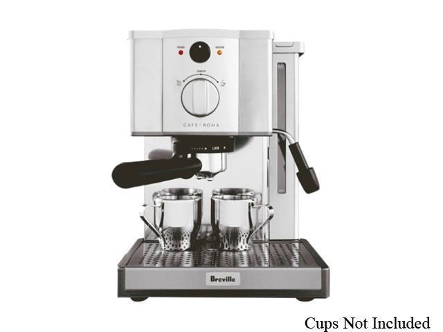 Breville Espresso Coffee Maker Model Esp8xl : Breville ESP8XL Cafe Roma Stainless Espresso Maker Silver - Newegg.com