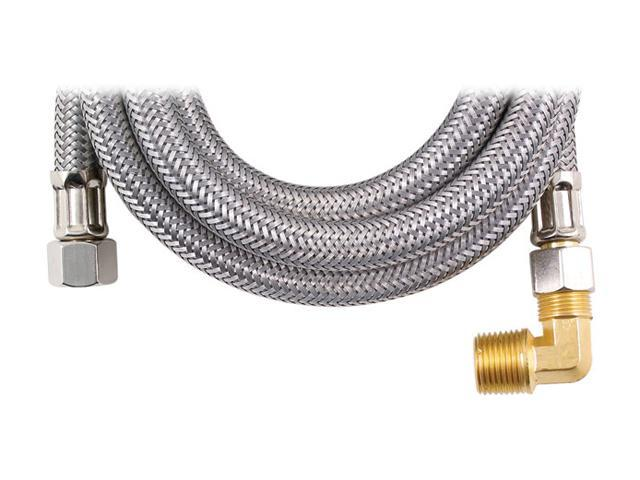 """Petra MK460B Braided Stainless Steel Dishwasher Connectors with Elbow (60"""")"""