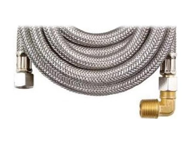 "Petra MK472B Braided Stainless Steel Dishwasher Connectors with Elbow (72"")"