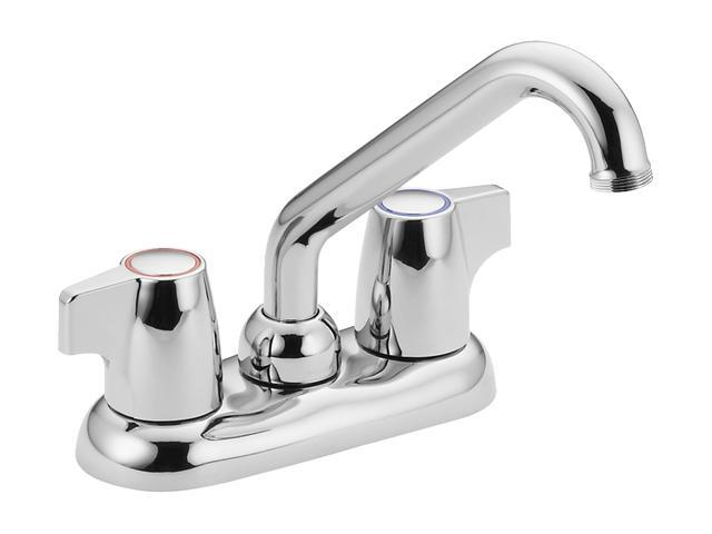 MOEN 74998 Two-handle low arc laundry faucet Chrome