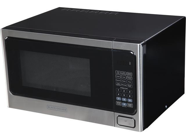 Black Decker Em031mab X1 1 Cu Ft 1000w Microwave Oven Stainless