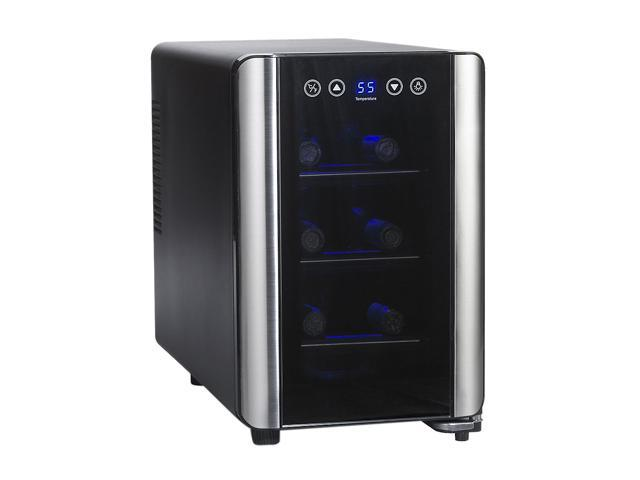 Wine Enthusiast 272 03 07 Silent 6 Bottle Touchscreen Wine Refrigerator Black