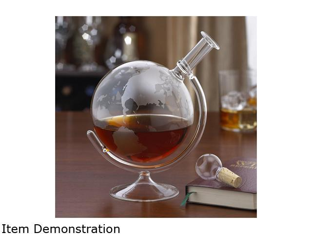 Wine Enthusiast 761 31 01 35 oz. Etched Globe Spirits Decanter