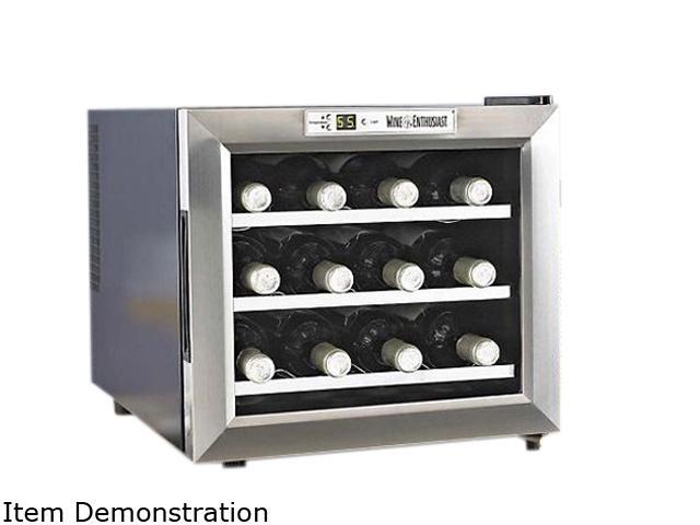 Wine Enthusiast 272 02 13 Silent Wine Refrigerator Stainless Steel