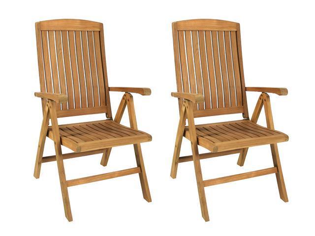 Teak Ivena 5 Position 2 Piece Chair