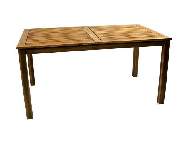 Ivena NE-IVN00448 Denver Rectangular Acacia Wood Patio Table