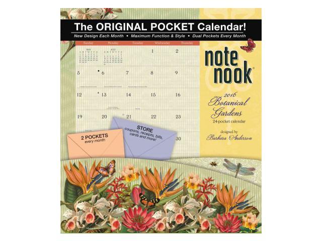 Calendar May Sia : Botanical gardens note nook calendar spi wal newegg