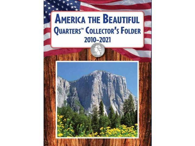 America the Beautiful Quarters Collector's Folder 2010-2021 BRDBK