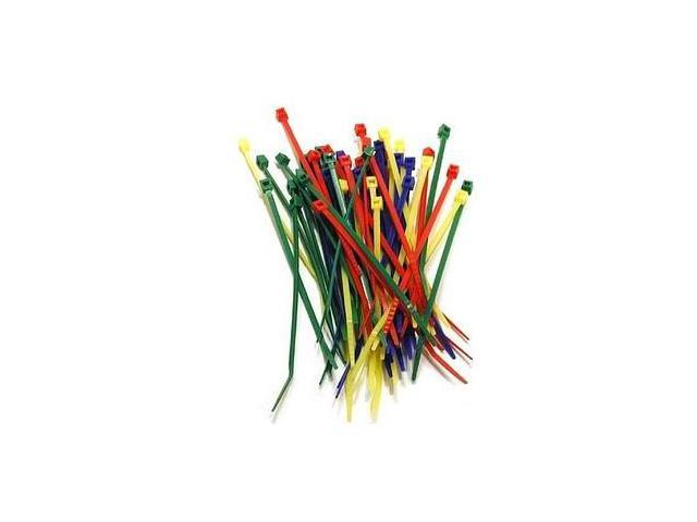 Belkin F8E624-C 52Pkg Multi Colored Cable Ties 4 Inch