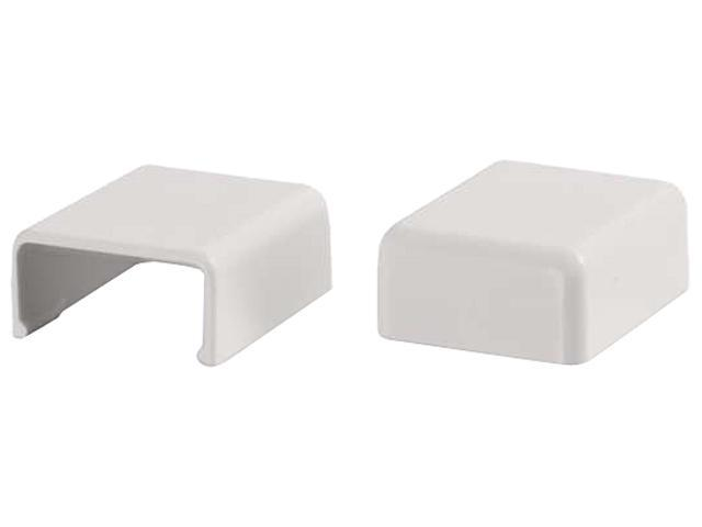 C2G Wiremold Uniduct 27 Blank End Fitting - White