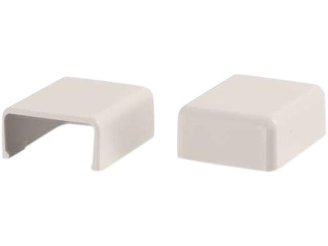 C2G Wiremold Uniduct 27 Blank End Fitting - Fog White