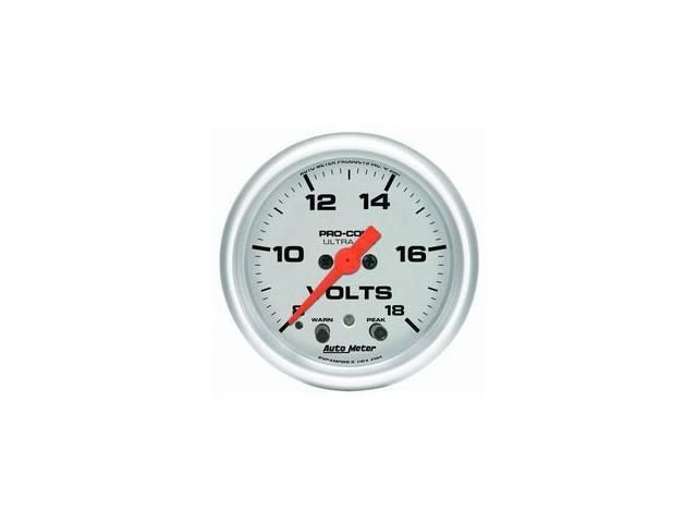 Auto Meter Ultra-Lite Electric Voltmeter Gauge
