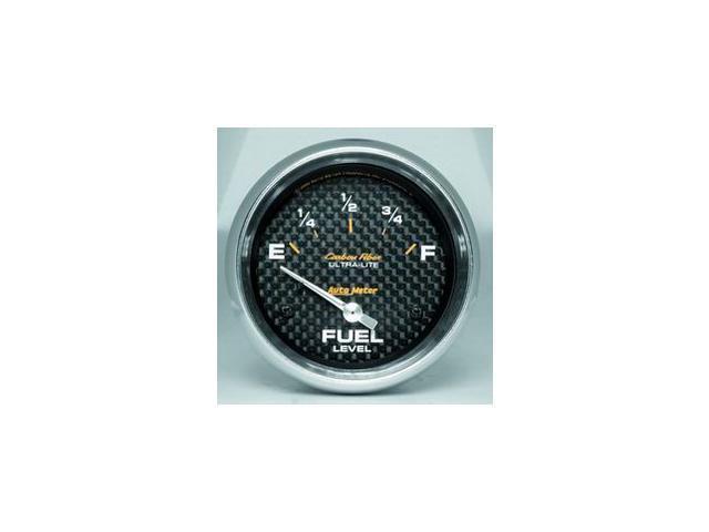 Auto Meter 4816 Carbon Fiber Electric Fuel Level Gauge