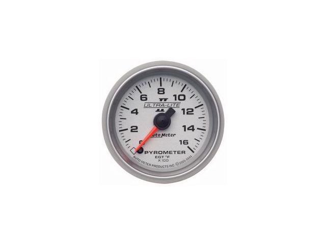 Auto Meter Ultra-Lite II Electric Pyrometer Gauge Kit