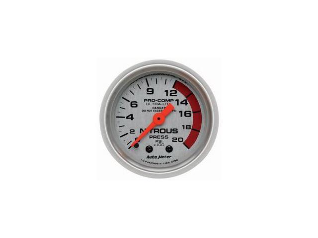 Auto Meter Ultra-Lite Mechanical Nitrous Pressure Gauge