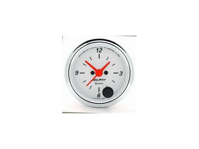 Auto Meter Arctic White Clock