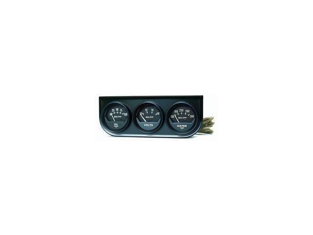 Auto Meter Autogage Black Oil/Volt/Water Black Console