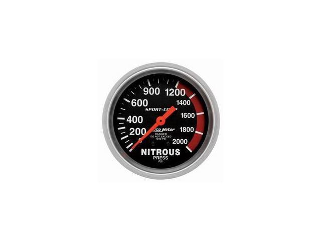Auto Meter Sport-Comp Mechanical Nitrous Pressure Gauge