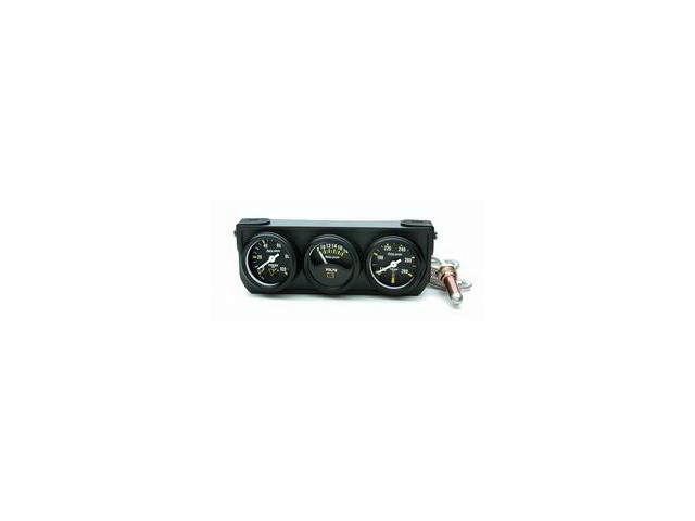 Auto Meter Autogage Mechanical Mini Oil/Volt/Water Black Console