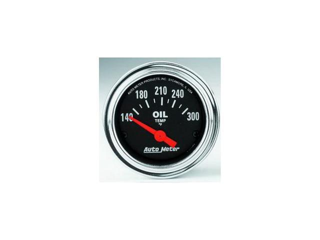 Auto Meter Traditional Chrome Electric Oil Temperature Gauge