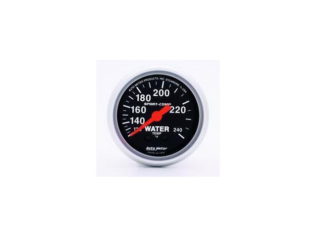 Auto Meter Sport-Comp Mechanical Water Temperature Gauge