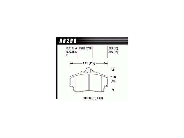 Hawk Performance HB290F.583 Disc Brake Pad