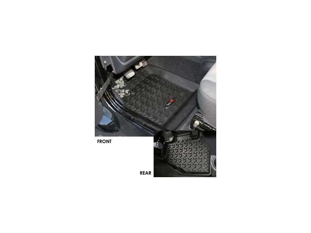 Rugged Ridge 12987.10 Floor Liner Set, 4 Piece, Black, 1997-2006 Wrangler TJ And 2004-2006 LJ