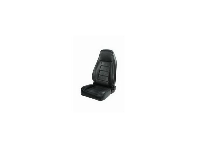 Rugged Ridge 13402.01 High-Back Front Seat, Reclinable, Black, 76-02 Jeep CJ And Wrangler