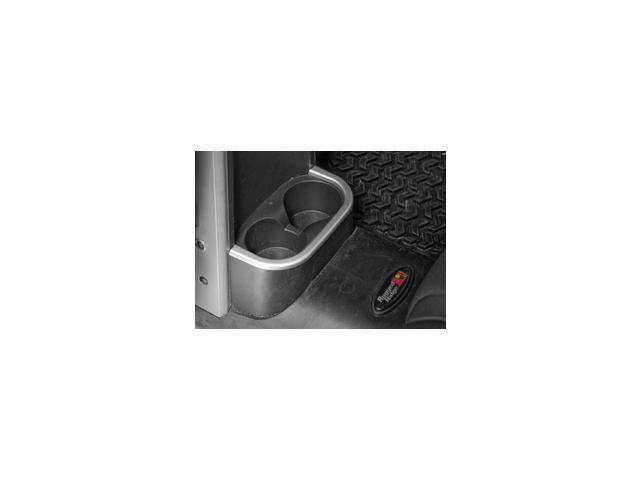Rugged Ridge 11151.18 Rear Cup Holder Trim, Brushed Silver, 07-10 Jeep Wrangler