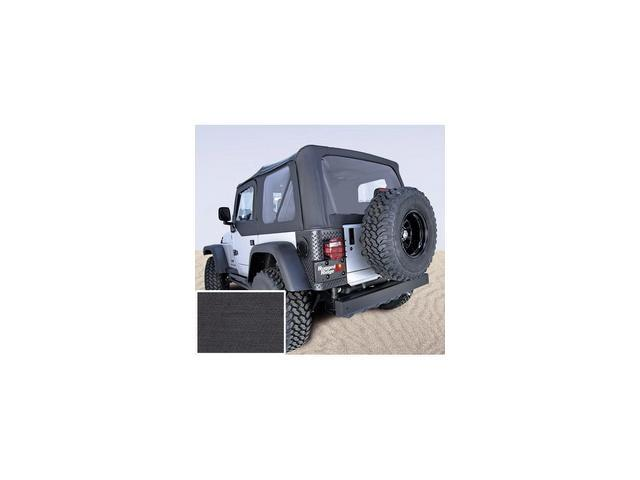 Rugged Ridge 13725.15 XHD Soft Top, Black, Clear Windows, 97-06 Jeep Wrangler TJ