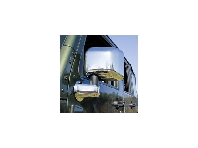 Rugged Ridge 13311.03 4-Piece Mirror, Arm Cover Kit, Chrome, 07-14 Jeep Wrangler JK