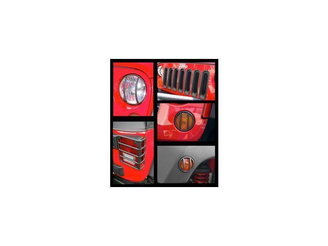 Rugged Ridge 12496.06 Euro Guard Kit Head/Side/Tail Light Guard