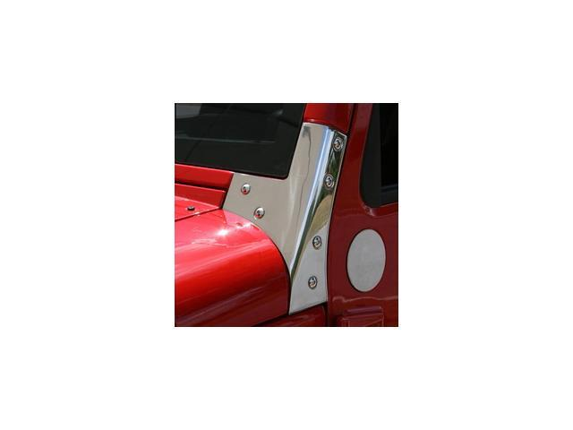 Rugged Ridge 11112.03 Windshield Hinges, Stainless Steel, 07-14 Jeep Wrangler