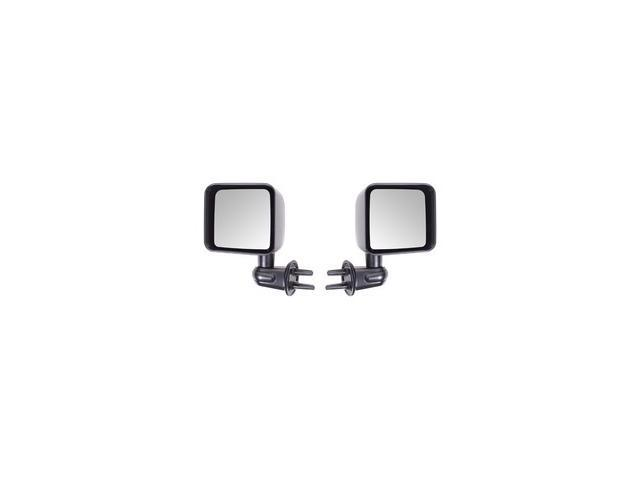 Rugged Ridge 11002.21 Door Mirror Kit, Black, 07-14 Jeep Wrangler JK