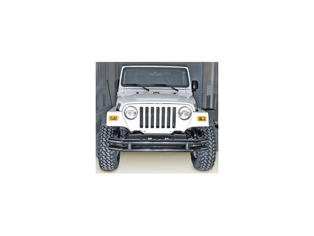 Rugged Ridge 115600.02 3-Inch Double Tube Bumper, 76-06 Jeep CJ And Wrangler