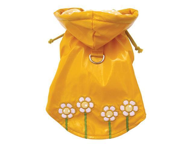 Polka Dots & Daisy Raincoat for Dogs - S
