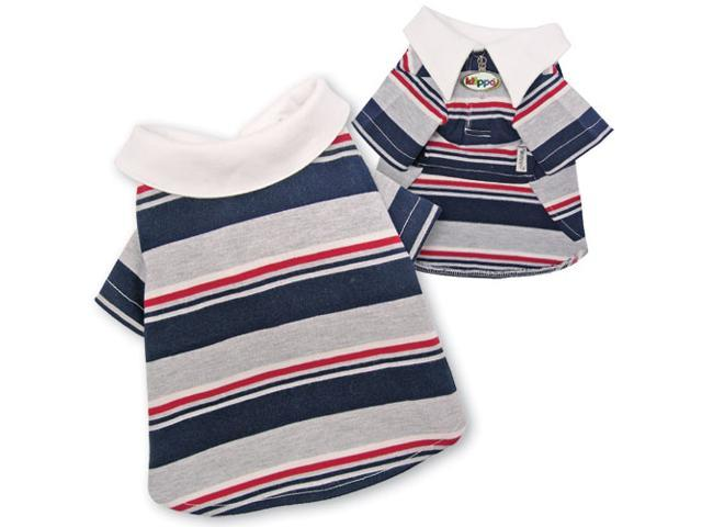 Adorable Multi-Colors Striped Polo Shirt for Dogs - XL