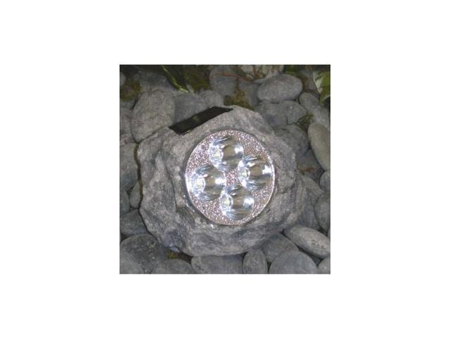 Homebrite Polyresin Garden Landscape Solar Rock Spot Light Model 30838 Large, Set of 3