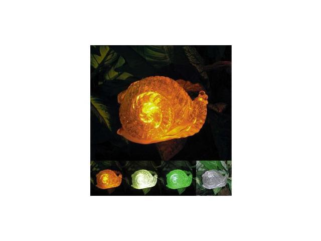 Polyresin Outdoor Garden Landscape Solar Light Color Changing LED Snail
