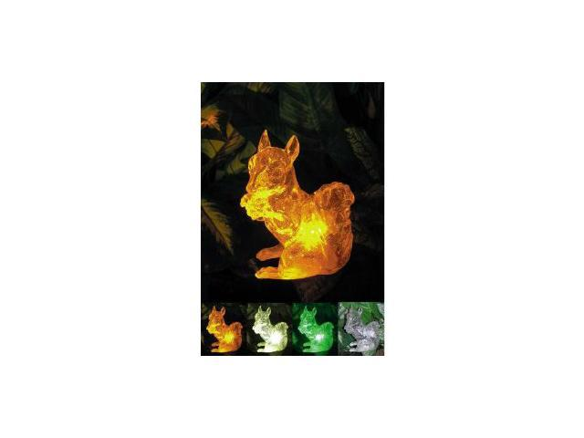 Polyresin Outdoor Garden Landscape Solar Light Color Changing LED Squirrel