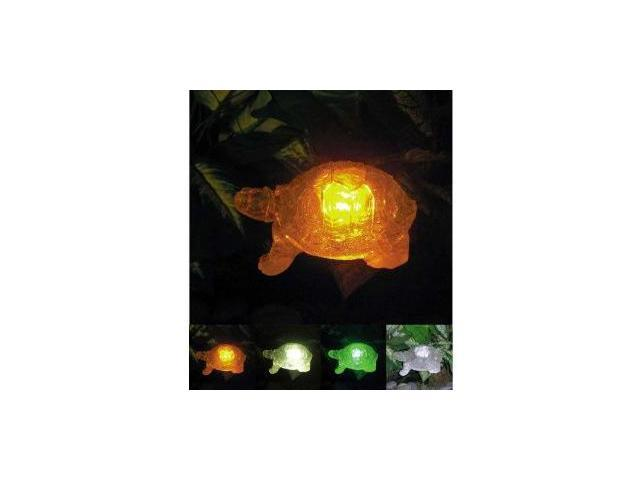 Polyresin Outdoor Garden Landscape Solar Light Color Changing LED Turtle