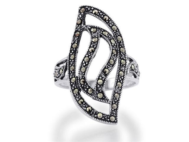 Sterling Silver Marcasite Ring Women's Jewelry