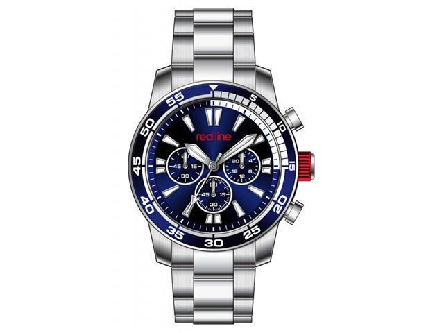 Red Line 60007 Men's Cruiser Stainless Steen Chronograph Watch with Navy Blue Dial