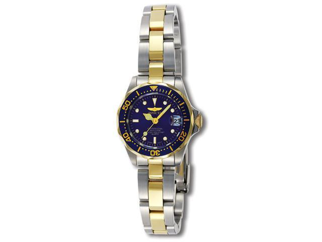 Invicta Women's Pro Diver Blue Dial Two Tone Stainless Steel