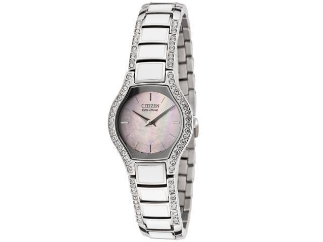 Citizen Women's Eco-Drive Normandie Swarovski Crystal Stainless Steel
